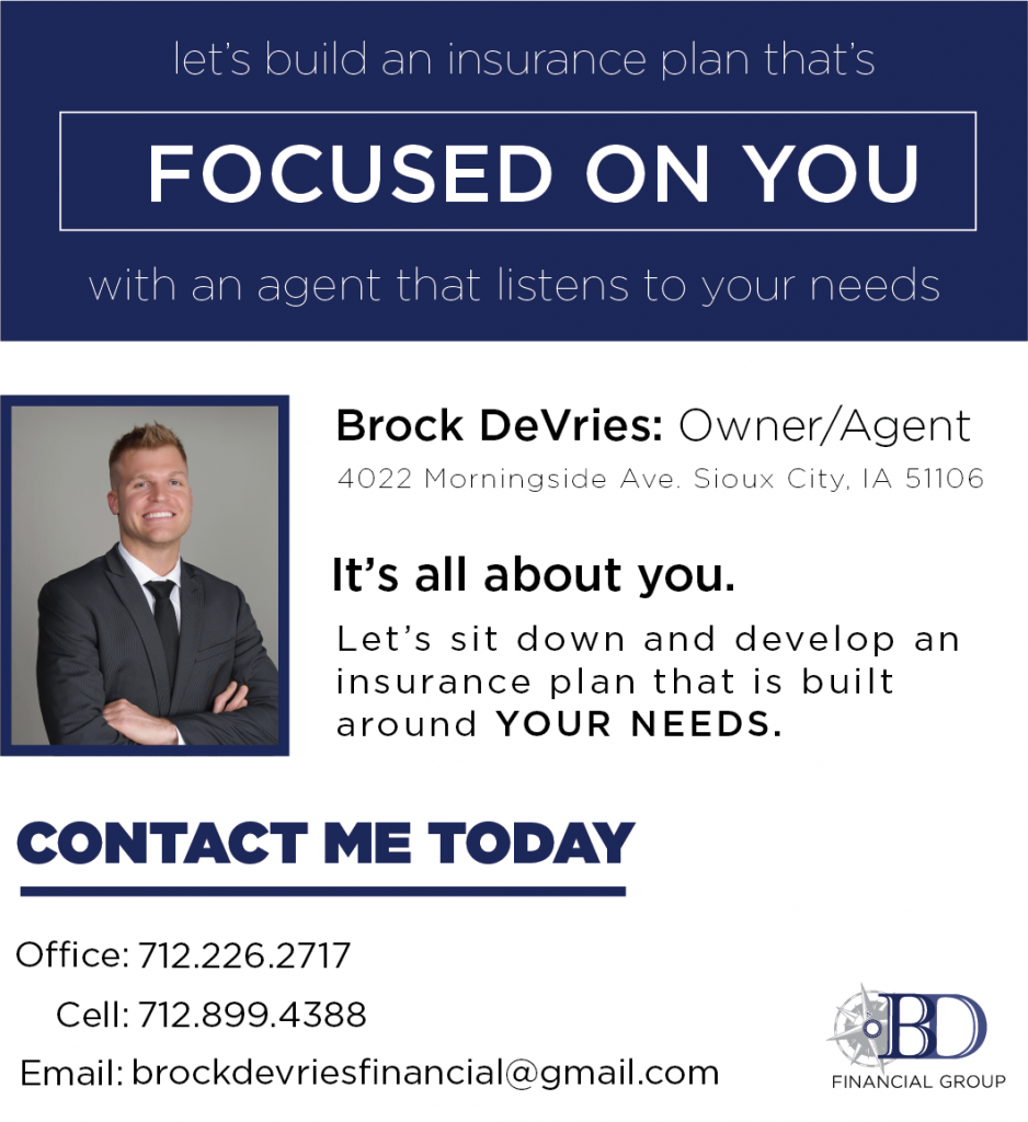BD Financial newspaper ad