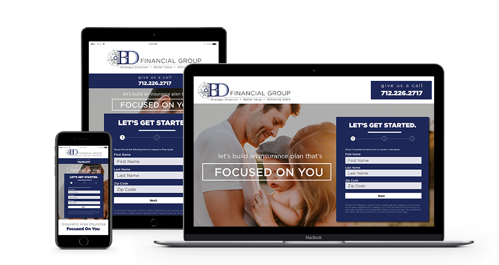 BD Financial Group website mockup