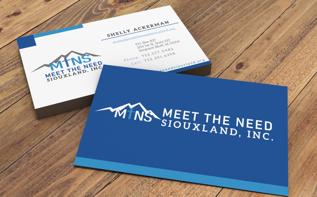 Meet the Need Siouxland business cards