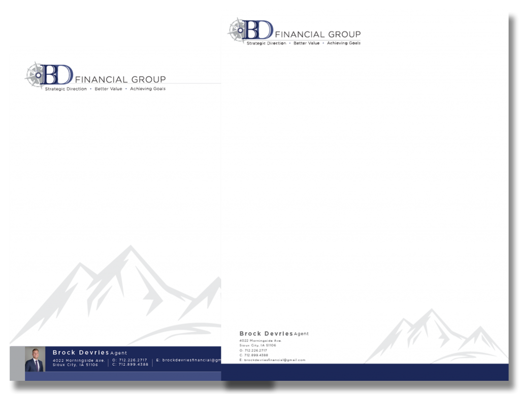 BD Financial Group letterhead