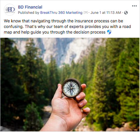 BD Financial Group Facebook post