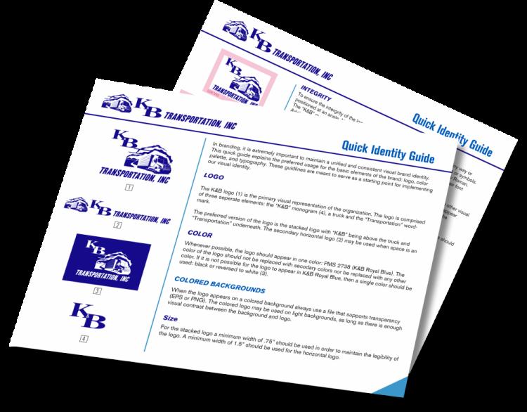 K&B Transportation quick identity guideline