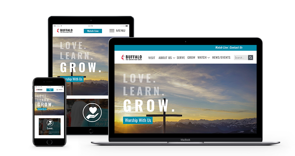 FUMC Buffalo Website Mockup